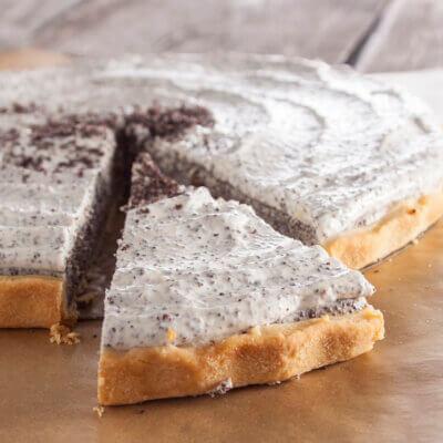 Makový koláč s mascarpone