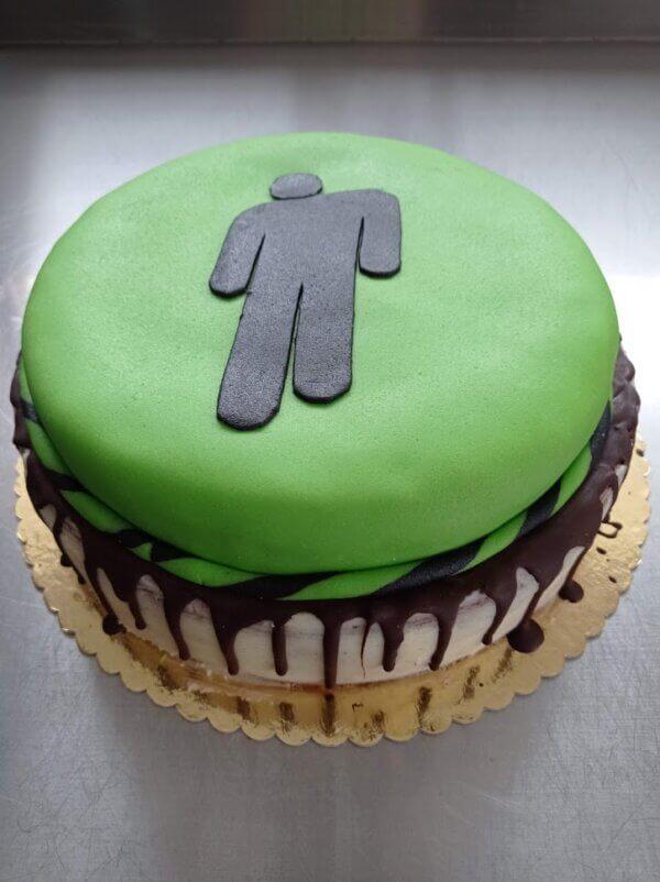 Dvoupatrový dort Billie Eilish