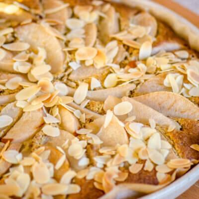 Mandlovo hruškový koláč